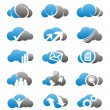 Cloud icons and logos set — Stock Vector #11978099