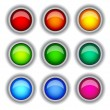 Buttons colour — Stock Vector