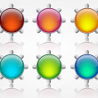 Royalty-Free Stock Vector Image: Buttons colour