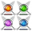 Stock Vector: Creative buttons Registration