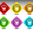 Royalty-Free Stock Vector Image: Buttons shopping cart