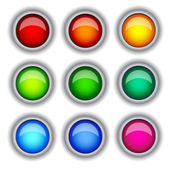 Buttons colour — Stockvektor