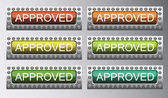 Approved buttons — Stock Vector