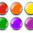 Stock Vector: Creative glossy buttons. Vector
