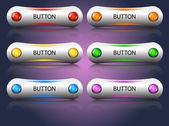 Vector glossy buttons — Stock Vector