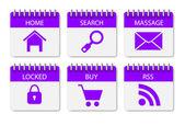 Website menu stickers — Stock Vector