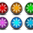 Buttons with lights — Stock Vector