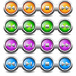 Stock Vector: Buttons for player