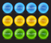 Buttons neon, vector — Stock Vector