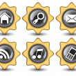 Royalty-Free Stock Vector Image: Creative Stars navigation buttons