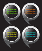 Creative round buttons — Stock Vector