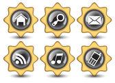 Creative Stars navigation buttons — Stock Vector