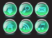 Navigation buttons for web, vector — Stock Vector