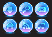 Navigation buttons for web — Stock Vector