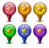 Buttons stars — Stock Vector