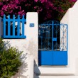 Blue entrance door — Stock Photo