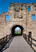 Schloss Eingang in St. Andrews, Schottland — Stockfoto