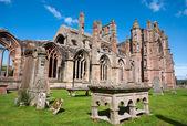 Melrose Abbey, Scotland — Stock Photo