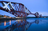 Forth railway Bridge in Edinburgh — Stock Photo