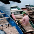 Boatman, Vietnam — Stock Photo
