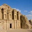 The monastery at Petra in Jordan — Stock Photo
