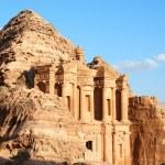 The monastery at Petra in Jordan — Stock Photo
