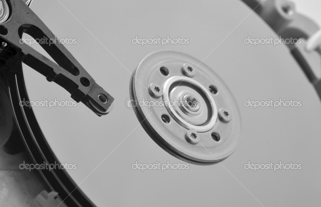 Internal details  of a hard disk computer drive.  Stock Photo #11922022