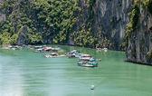 халонг бей, вьетнам плавающей деревне — Стоковое фото