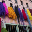 Dyed Wool, Marrakech, Morocco - Stock Photo