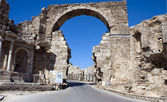 Greek Ruins, Side, Turkey — Stock Photo