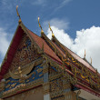 Gable Roof, Temple, Thailand — Stock Photo