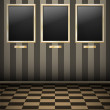 Royalty-Free Stock Imagen vectorial: Empty Pictures on Striped wall