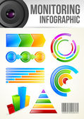 Monitoring Infographic Template — Vector de stock