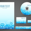 Graphic Business Layout with place for logo and text — Stock Photo