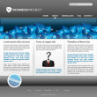 Stock Photo: Business website template