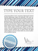 Vintage certificate with space for your text — Stock Photo
