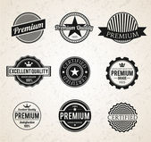 Set of Vintage Premium labels — Stock Photo