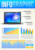 Technology Infographic Template — Foto Stock