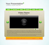Presentation website template — Stock Photo