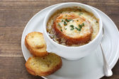 Sopa francesa de cebola — Foto Stock