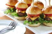 Mini hamburgers — Stock Photo