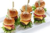 Mini burgers — Stock Photo