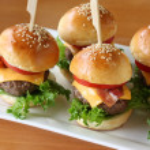 Mini hamburgers, mini burgers — Stock Photo #11007282