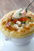 Chicken pot pie — Stock Photo