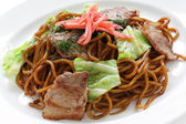 Yakisoba, japanese stir-fried noodles — Stock Photo