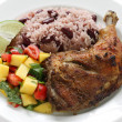 Jerk chicken plate — Foto Stock