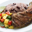 Jerk chicken plate — Stock Photo #11343470