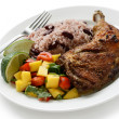 Jerk chicken plate — Stock Photo #11343478