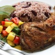 Jerk chicken plate — Stock fotografie