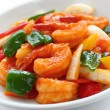 Sweet and sour shrimp - Stock Photo